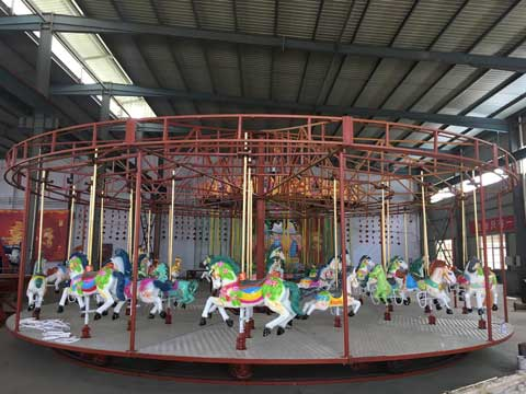 Amusement Carousel Rides In Beston Factory