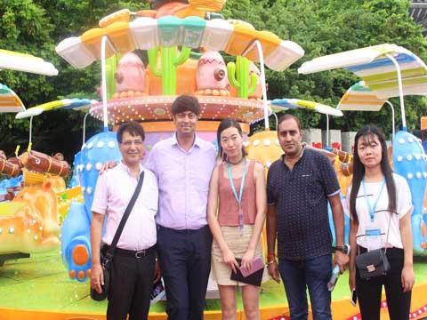 Customers Visiting Beston Amusement Rides