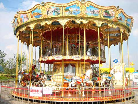 Double Layer Carousel Amusement Park Rides
