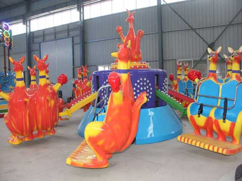PLKR-8B 16 Seats Happy Kangaroo Jump Amusement Rides For Sale - Powerlion