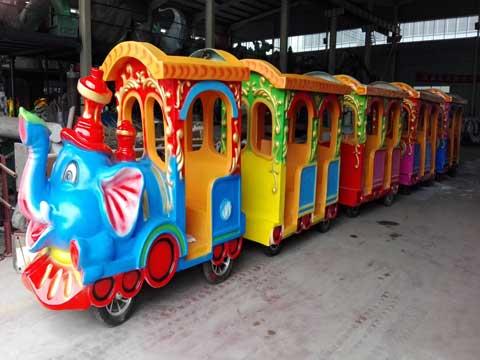 PLTT-4I Elephant Trackless Train Amusement Rides - Powerlion Factory