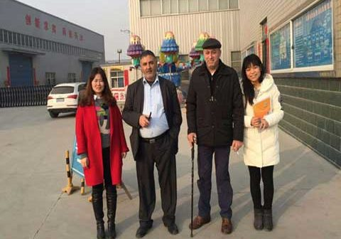 Pakistan Customer Visiting Powerlion Amusement Factory