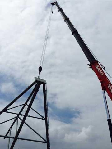 Beston Carnival Rides Ferris Wheel Installation