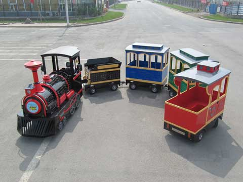 Small Amusement Park Trackless Train Rides