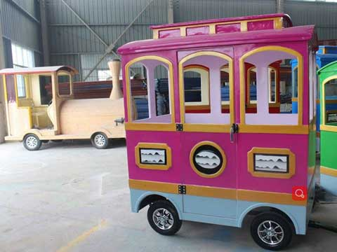 Trackless Train In Powerlion Factory