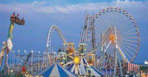 Unique Amusement Park With Construction Equipment