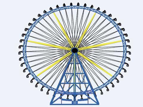 88m Ferris Wheel Structure Design