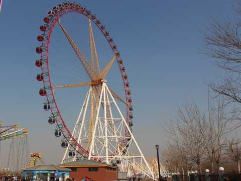 PLFW-D 88m Ferris Wheel Amusement Park Ride
