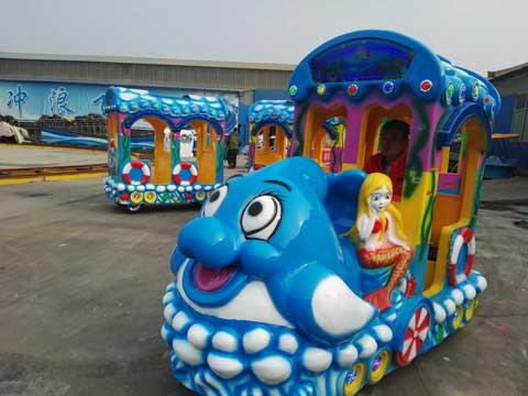PLPT-4B Amusement Park Cartoon Train Ride In Powerlion