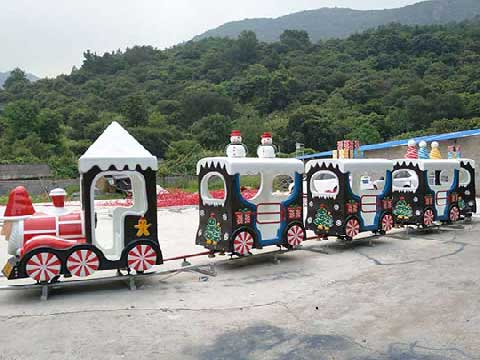 Christmas Themed Amusement Train Rides For Sale In Powerlion Company