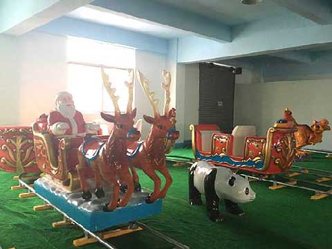 Christmas Themed Amusement Train Rides For Sale Cheap In Powerlion Factory