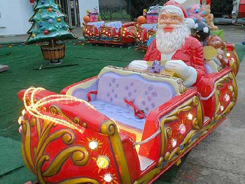 Christmas Themed Amusement Train Rides For Sale Cheap In Powerlion Supplier