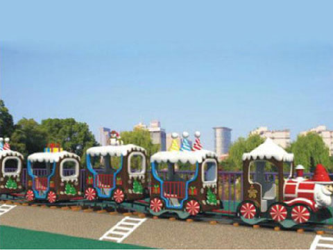 Buy Christmas Themed Amusement Train Rides For Sale From Powerlion