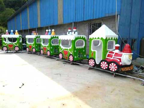 Christmas Themed Amusement Train Rides For Sale In Powerlion Rides Supplier