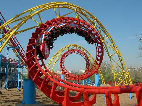 Four-loop Roller Coasters For Sale Cheap In Beston Factory