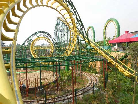 Four-loop Roller Coasters For Sale From Beston Supplier