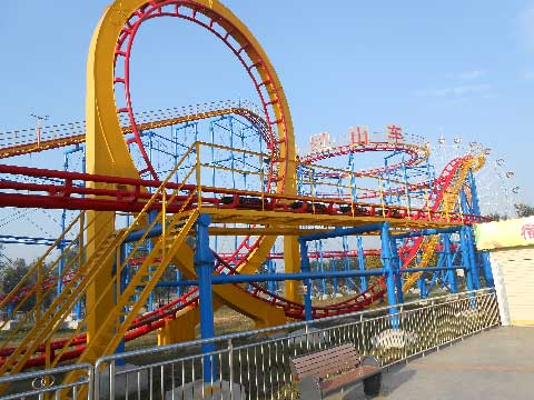 Mid-three-loop Roller Coasters For Sale In Beston Factory