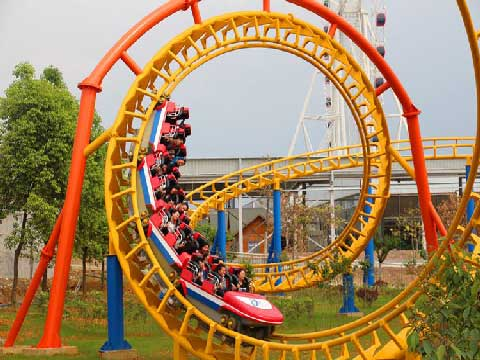 Mid-three-loop Roller Coasters For Sale From Beston Company