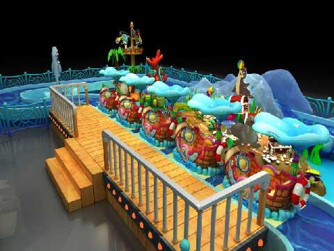 Cheap Kiddie Rides Ocean Drifting Amusement Ride For Sale
