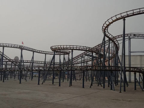 Steel Structure Of Crazy Mouse Family Roller Coasters In Beston Supplier