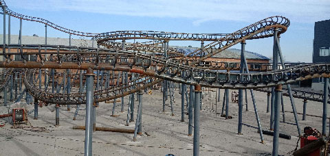 Structure Of Crazy Mouse Family Roller Coasters In Beston