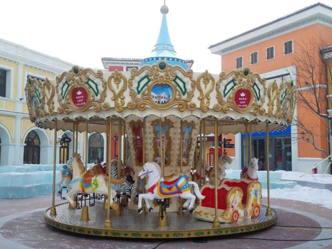 BNCR 05 - 16 Seats New Carousel Ride For Sale - Beston Factory
