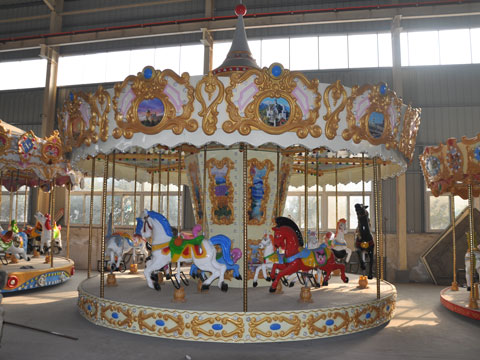 BNCR 06 - 16 Seats European Style Carousel Ride - Beston Factory